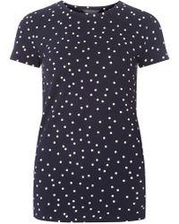 Dorothy Perkins - Tall Navy Spot Print T-shirt - Lyst