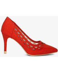 Dorothy Perkins - Red 'glaze' Cut Out Heel Court Shoes - Lyst