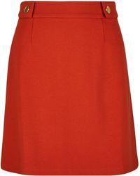 2b8f1b3602 River Island Rust Orange Poplin Frill Wrap Mini Skirt in Orange - Lyst