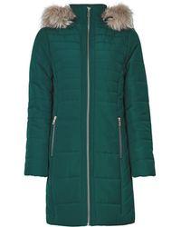 Dorothy Perkins Dark Green Faux Fur Hood Padded Coat