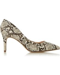 ddae7ca5e6b Head Over Heels By Dune Multi Colour Snake Print 'aisla' Court Shoes -  Natural