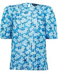 Dorothy Perkins Blue Floral Print Top, Blue