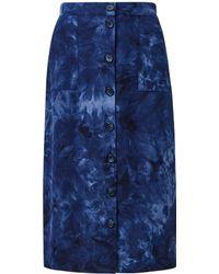 Dorothy Perkins Blue Tie Dye Midi Skirt
