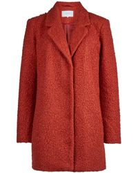 Vila Red Boucle Boyfriend Coat