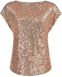 Dorothy Perkins Breast Cancer Care Rose Gold Sequin T-shirt - Metallic