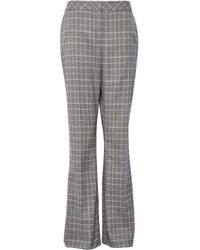 Dorothy Perkins - Grey Check Print Bootcut Trousers - Lyst