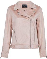 Dorothy Perkins Blush Suedette Biker Jacket - Pink