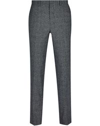 Dorothy Perkins Burton Grey And Camel Highlight Skinny Fit Check Suit Trousers, Grey