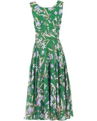 Jolie Moi Jolie Moi Green Floral Print Chiffon Midi Dress, Green