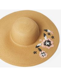 Dorothy Perkins - Beige Raffia Floppy Hat - Lyst