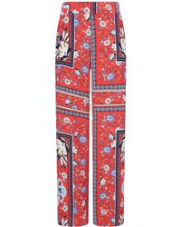 Girls On Film - Multi Colour Scarf Print Trousers - Lyst