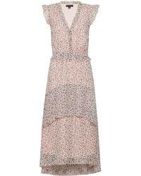 Dorothy Perkins Blush Ditsy Print Chiffon Midi Dress - Pink