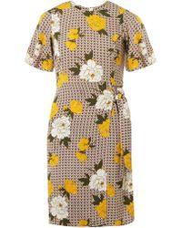 0db4798d369 Dorothy Perkins - Petite Multicoloured Floral Print Tie Side Dress - Lyst