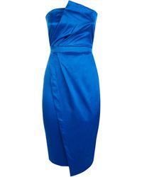 Vesper Cobalt Satin Dress - Blue