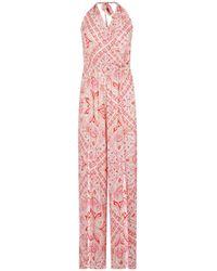 Dorothy Perkins Dp Beach Pink Paisley Print Jumpsuit, Pink