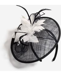 Dorothy Perkins Black Hessian Fascinator, Black
