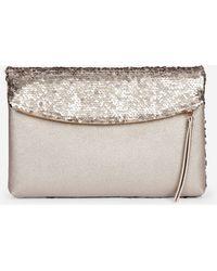 Dorothy Perkins Gold Sequin Foldover Clutch Bag