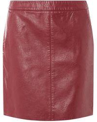 Dorothy Perkins - Burgundy Pocket Pu Mini Skirt - Lyst