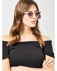 Dorothy Perkins Pink Cat Eye Sunglasses - White