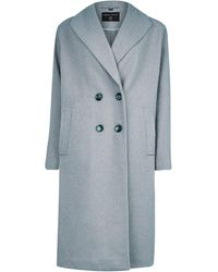 Dorothy Perkins Gray Double Breasted Coat, Gray