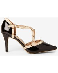 Dorothy Perkins - Wide Fit Black 'gemalina' Court Shoes - Lyst