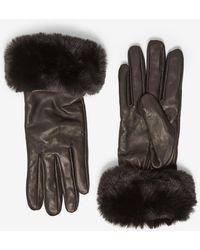 Dorothy Perkins Black Faux Fur Trim Gloves