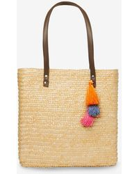 Dorothy Perkins - Neutral Straw Tassel Shopper Bag - Lyst