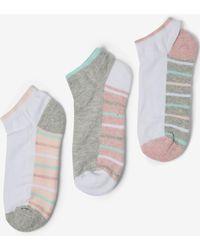 Dorothy Perkins Multi Coloured 3 Pack Padded Sole Socks - Multicolour