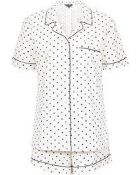 109d57bd8f29c Dorothy Perkins - Maternity White Polka Dot Print Pyjama Set - Lyst