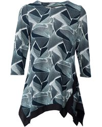 Dorothy Perkins Izabel London Teal Abstract Print Top - Blue