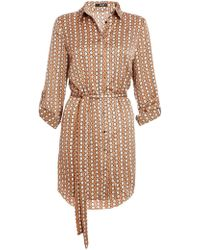 8a7f12c4c21d Dorothy Perkins - Quiz Stone And Cream Geometric Print Shirt Dress - Lyst