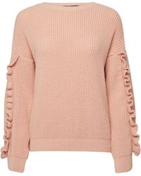 Dorothy Perkins Blush Ruffle Sleeve Jumper - Pink