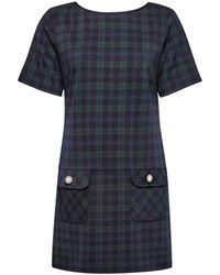 Dorothy Perkins Blue Check Tunic - Black