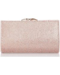 86371d21232 River Island 3d Flower Embellished Clip Top Purse in Pink - Lyst
