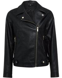 Dorothy Perkins Black Pu Biker Jacket, Black