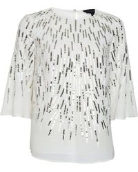 Dorothy Perkins Ivory Sequin Top, Ivory - White