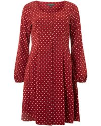 3d16420e571 Lyst - Dorothy Perkins Dp Curve Red Floral Print Sundress in Red
