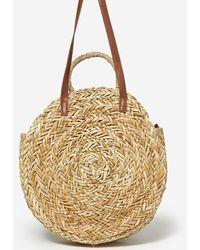 Dorothy Perkins Southbeach Cream Straw Beach Bag - White