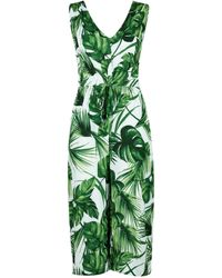 Dorothy Perkins Dp Beach Green Leaf Print Jumpsuit