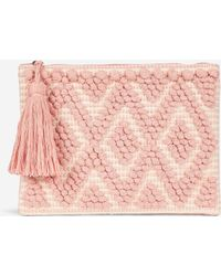 Dorothy Perkins Blush Bobble Clutch Bag - Pink