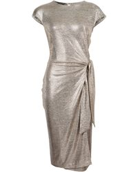 Dorothy Perkins Gold Shimmer Tie Side Pencil Dress, Gold - Metallic