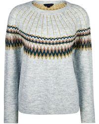 THMO Ladies Vintage Nordic Fairisle Style Winter Wool Blend Socks