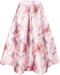 Dorothy Perkins - Luxe: Blurred Floral Hi Low Prom Skirt - Lyst