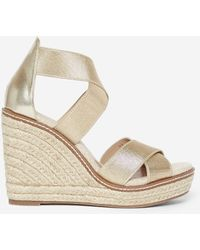 Dorothy Perkins Gold Reel' Wedge Espadrilles With Recycled Polyester - Metallic