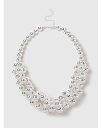 Dorothy Perkins - Silver Ball Collar Necklace - Lyst