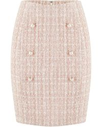 Dorothy Perkins Paper Doll Blush Pearl Skirt - Pink
