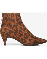 feb77c7c7cbd Dorothy Perkins - Leopard Print 'anaconda' Ankle Boots - Lyst