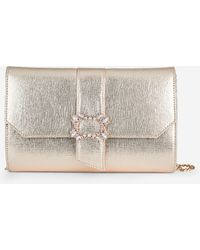Dorothy Perkins Gold Broach Clutch Bag - Metallic
