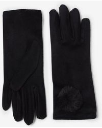 Dorothy Perkins Black Fleecy Pom Pom Gloves