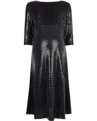 Dorothy Perkins Dp Maternity Black Sequin Midi Dress